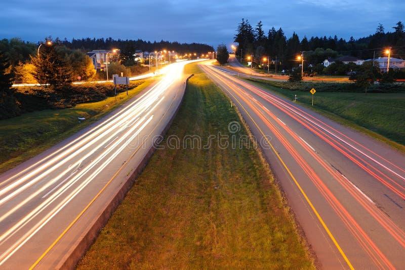 trail för bilhuvudvägtrafik fotografering för bildbyråer
