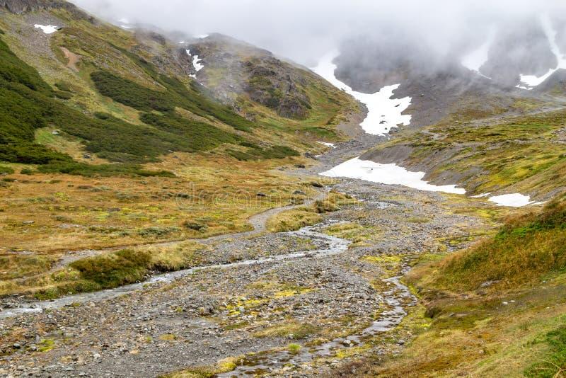 Trail in Glacier Martial stock photos