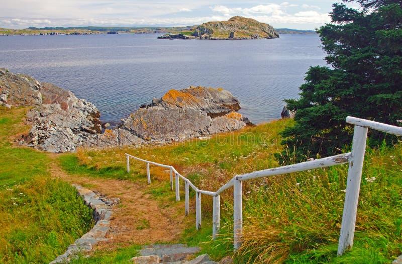 Trail längs havkusten royaltyfria bilder