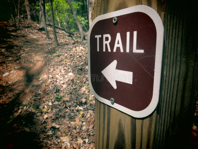 Download Trail Marker stock image. Image of directional, nature - 39993043