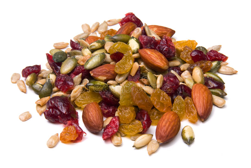Download Trail mix stock image. Image of studio, pile, white, eating - 10291889