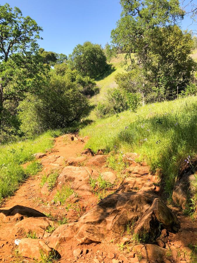Rocky Trail at Natural Bridges royalty free stock images