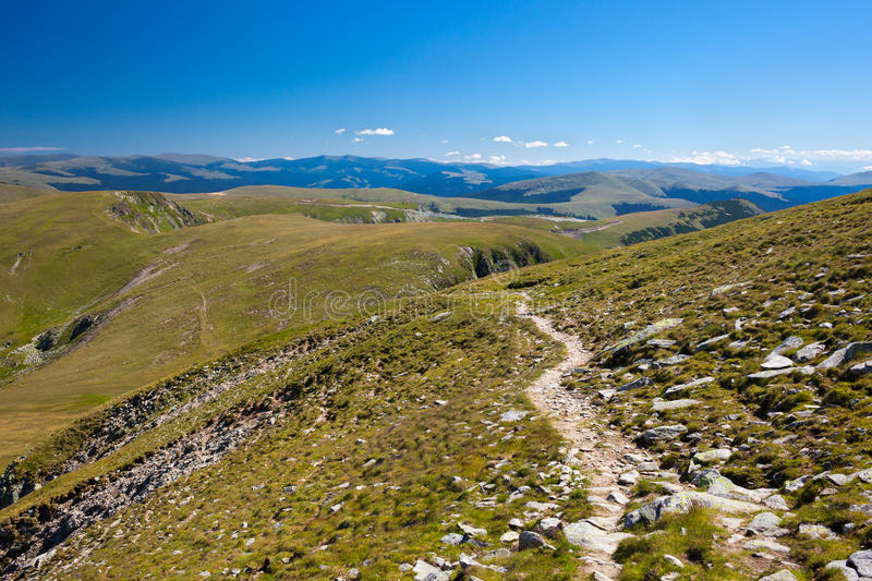 Download Trail in the mountains stock image. Image of clear, grassfield - 26080103