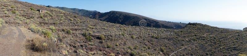 Trail near hill. On the La Gomera island, Spain stock image