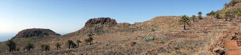 Trail near hill. On the La Gomera island, Spain royalty free stock photography