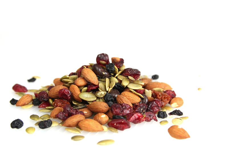 Download Trail nuts and dry fruits stock image. Image of pile - 17314309