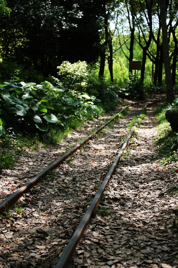 Free Trail Of Small Train In Gongqing Forest Park Stock Image - 5177181