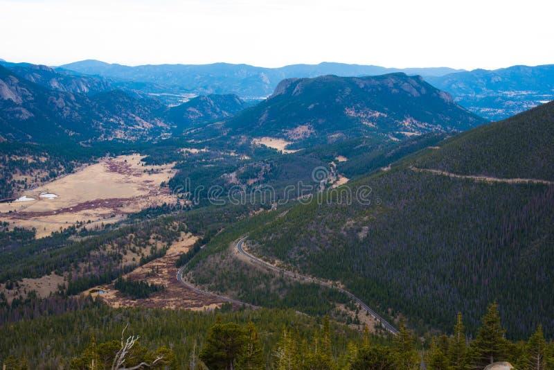 Trail Ridge Road, Rocky Mountain National Park. Overlook of the east side of Rocky Mountain National Park royalty free stock photos
