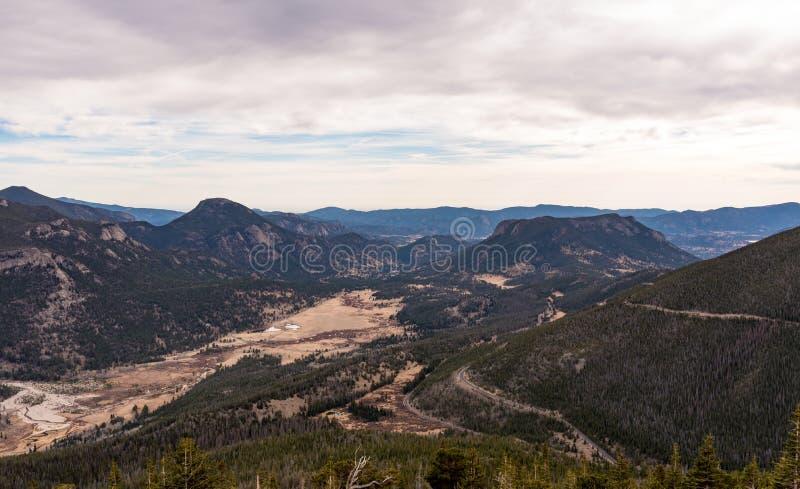 Trail Ridge Road, Rocky Mountain National Park. Overlook of the east side of Rocky Mountain National Park royalty free stock photo