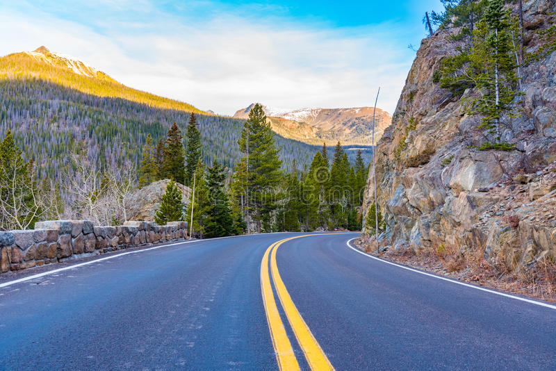 Trail Ridge Road, Rocky Mountain National Park. Viewpoint of Trail Ridge Road, Rocky Mountain NP, Colorado royalty free stock image