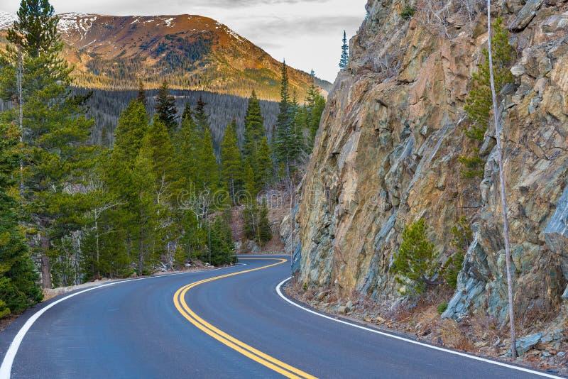 Trail Ridge Road, Rocky Mountain National Park. Viewpoint of Trail Ridge Road, Rocky Mountain NP, Colorado royalty free stock photo
