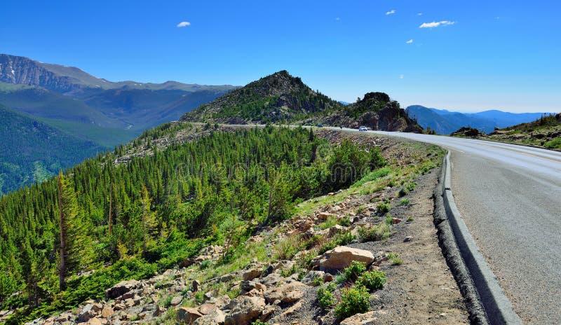 Trail ridge road in rocky mountains national park, Colorado, USA royalty free stock photos
