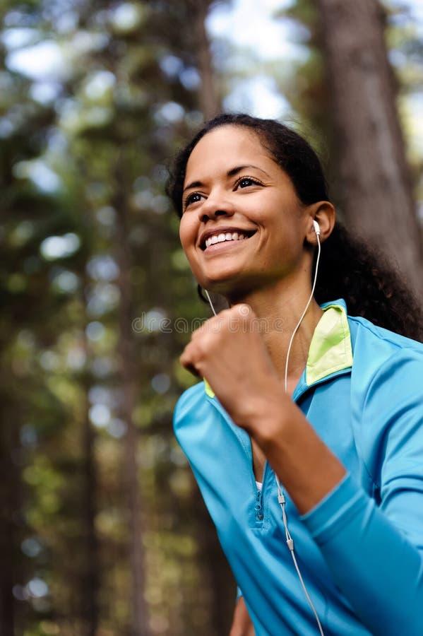 Trail runner portrait royalty free stock image