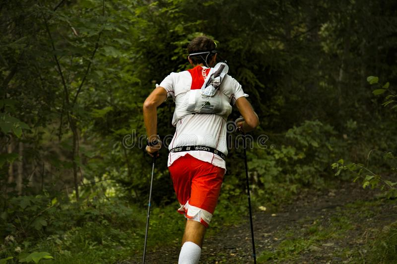 Trail runner royalty free stock photo