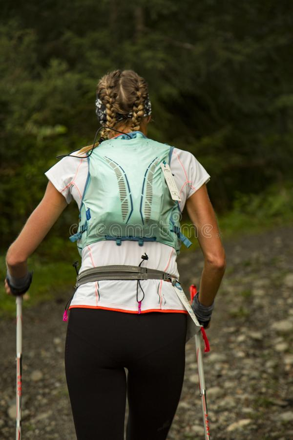 Trail runner woman royalty free stock image