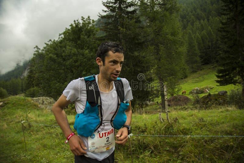 Trail runner kilian jornet burgada royalty free stock photo