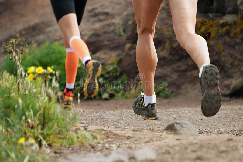 Trail running cross royalty free stock images