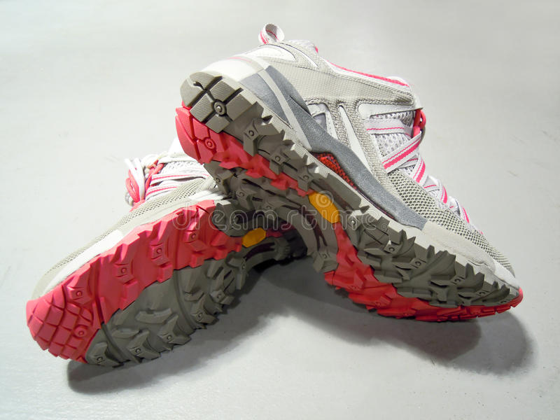 Trail shoes royalty free stock photos