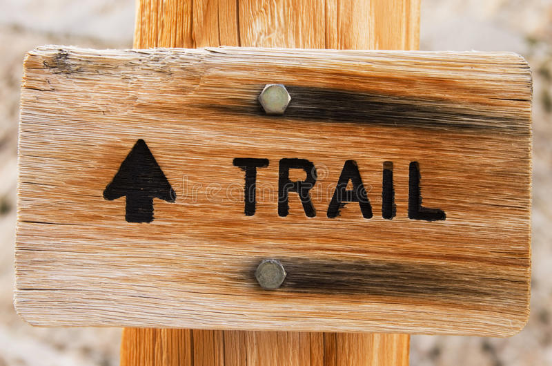 Download Trail Sign stock image. Image of post, sign, arrow, trail - 27309473