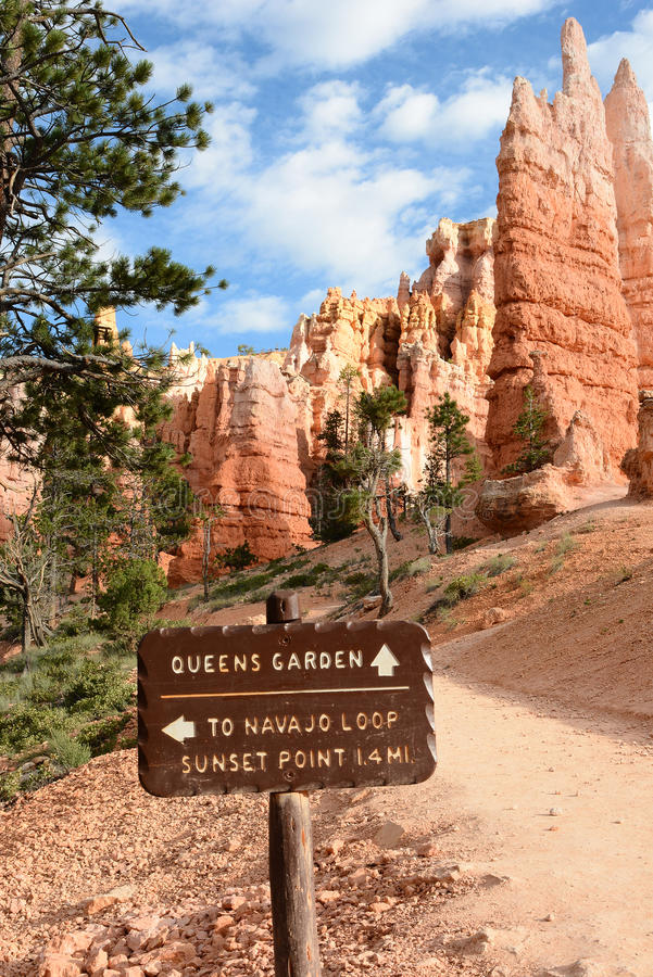 Free Trail Sign Bryce Canyon NP Royalty Free Stock Photo - 73985025