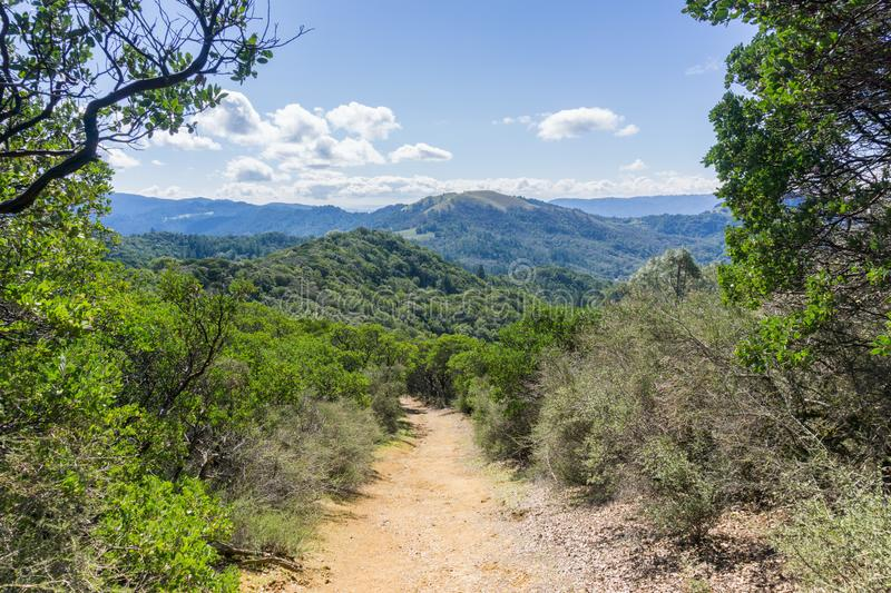 Trail in Sugarloaf Ridge State Park, Sonoma County, California stock photography