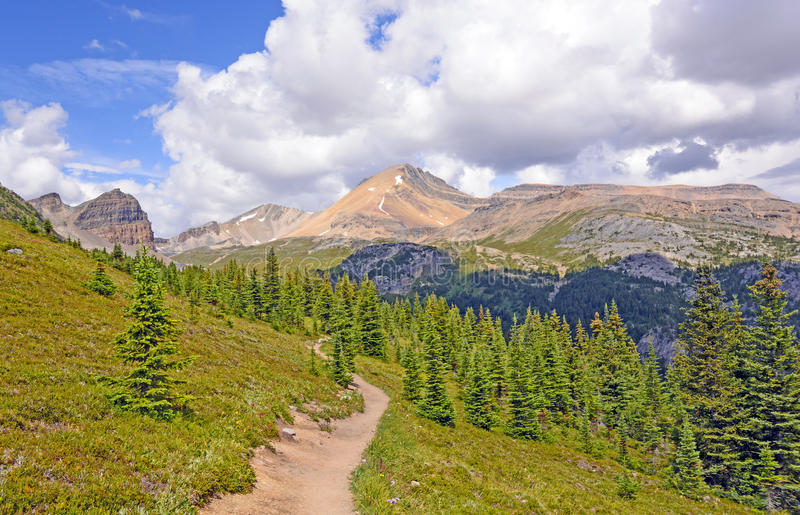 Trail To Mountain Pass Stock Images