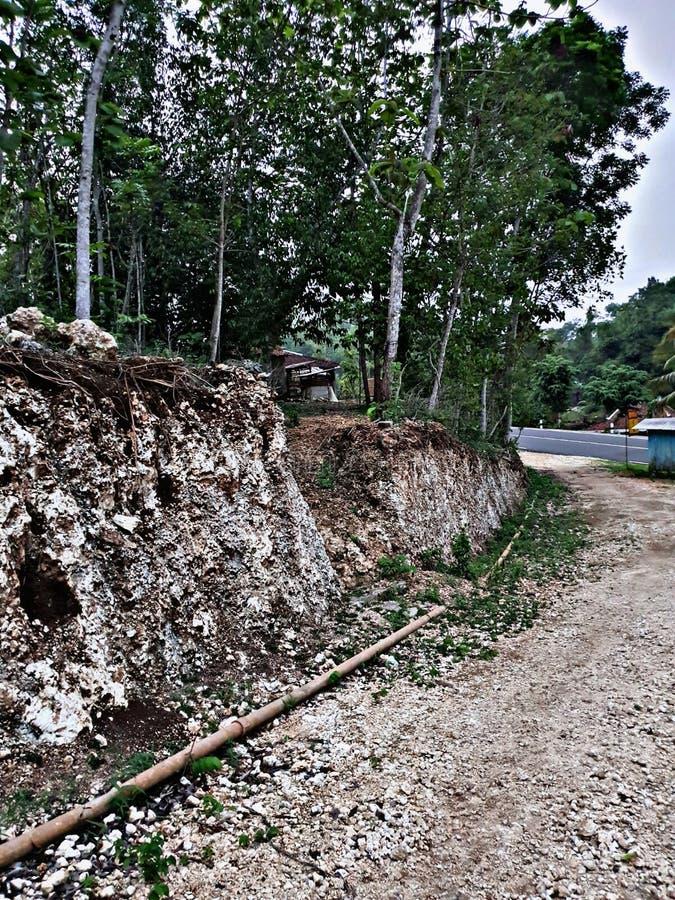 Trail toward village at Gunung Kidul Jogjakarta Indonesia. Trail toward village at gunung  jogjakarta stock photography