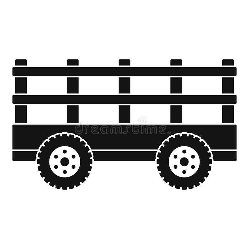 Trail tractor icon, simple style stock illustration
