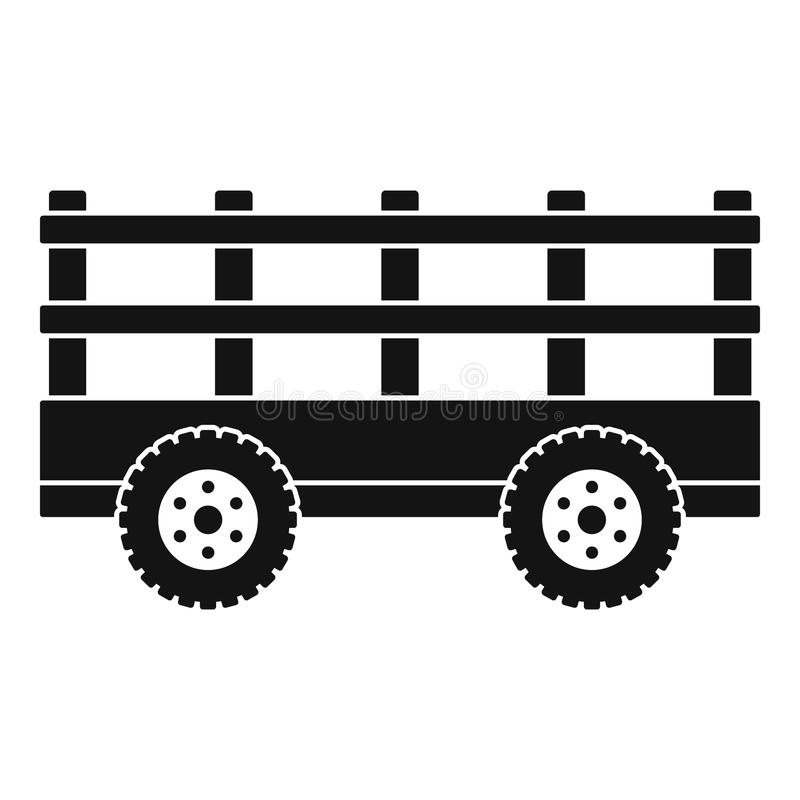 Trail tractor icon, simple style royalty free illustration