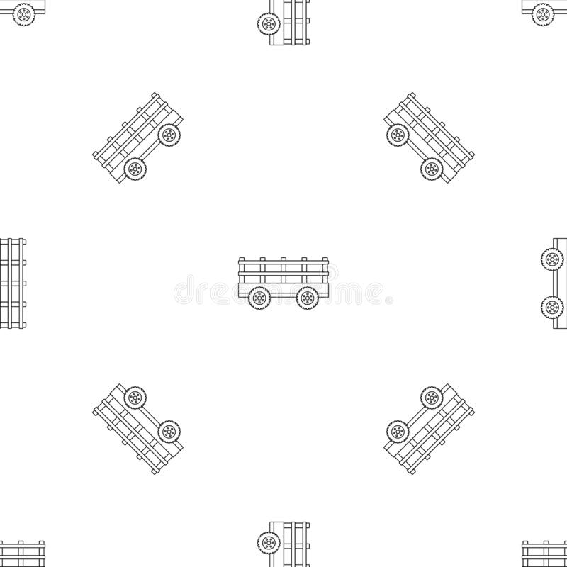 Trail tractor pattern seamless vector. Repeat geometric for any web design royalty free illustration