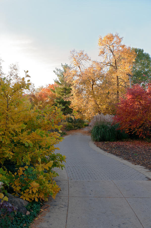 Trail and Trees at Botanical Garden in Madison royalty free stock photography