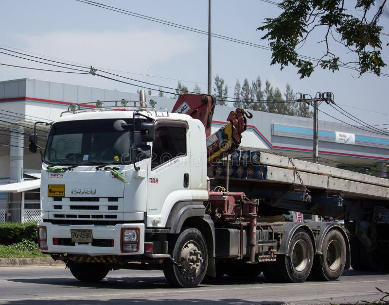 Trailer dump truck of Chiangmai Pk Transport. CHIANG MAI, THAILAND - MAY 21 2018: Trailer dump truck of Chiangmai Pk Transport. On road no.1001, 8 km from stock photography