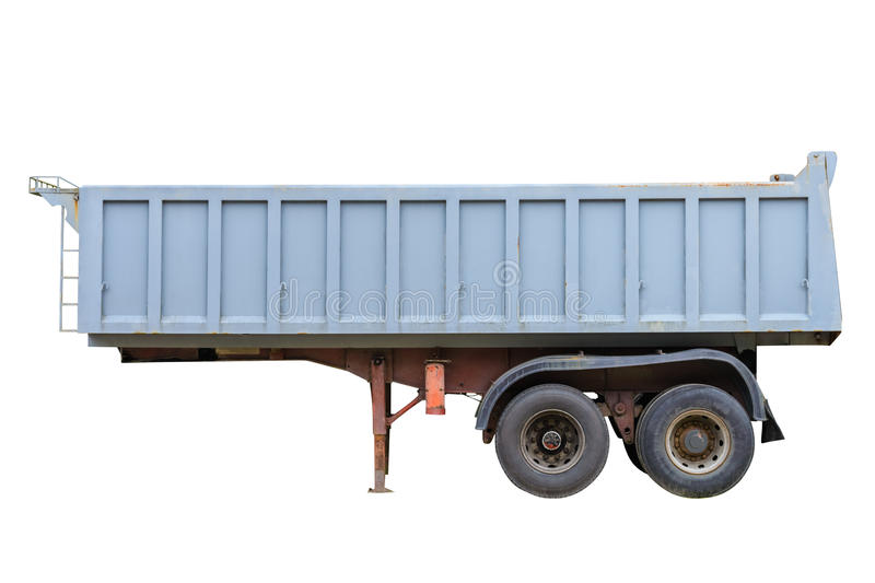 Trailer for dump truck isolated on white background. Image of trailer for dump truck isolated on white background royalty free stock photos