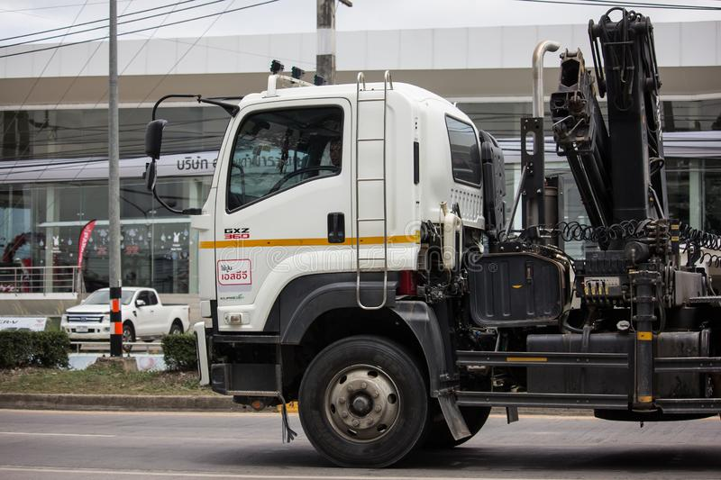 Trailer dump truck of Piboon Concrete. Chiangmai, Thailand - June 13 2019: Trailer dump truck of Piboon Concrete. On road no.1001, 8 km from Chiangmai city stock photos
