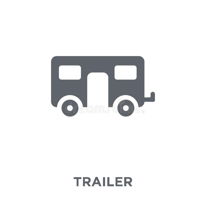 Trailer icon from Circus collection. Trailer icon. Trailer design concept from Circus collection. Simple element vector illustration on white background vector illustration