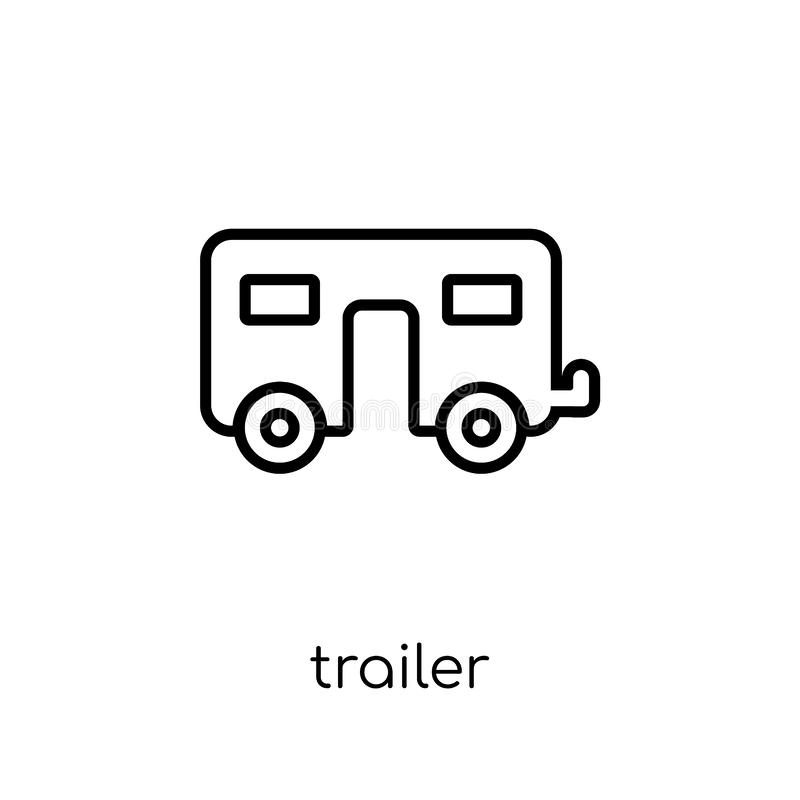 Trailer icon from Circus collection. Trailer icon. Trendy modern flat linear vector trailer icon on white background from thin line Circus collection, outline vector illustration