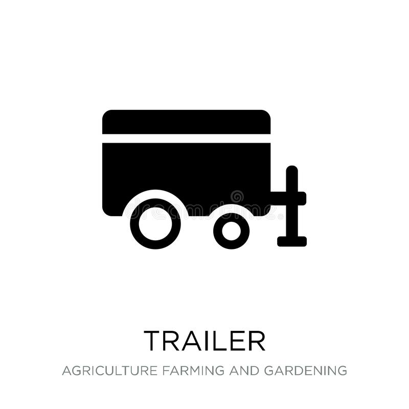 Trailer icon in trendy design style. trailer icon isolated on white background. trailer vector icon simple and modern flat symbol. For web site, mobile, logo royalty free illustration