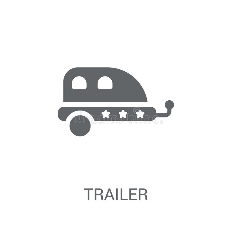 Trailer icon. Trendy Trailer logo concept on white background fr. Om Circus collection. Suitable for use on web apps, mobile apps and print media royalty free illustration