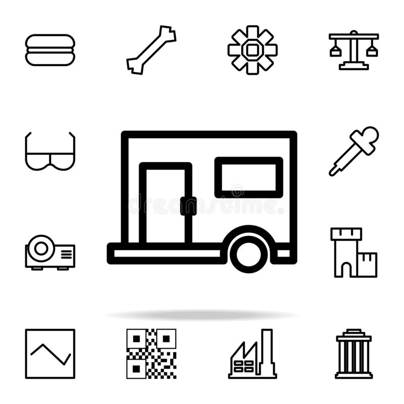 Trailer icon. web icons universal set for web and mobile. On white background vector illustration