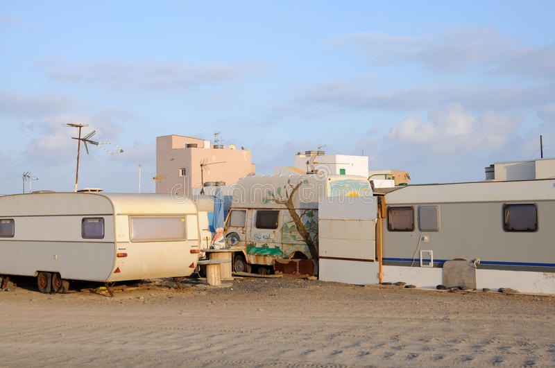Download Trailer Park stock photo. Image of canary, village, mobile - 10012338