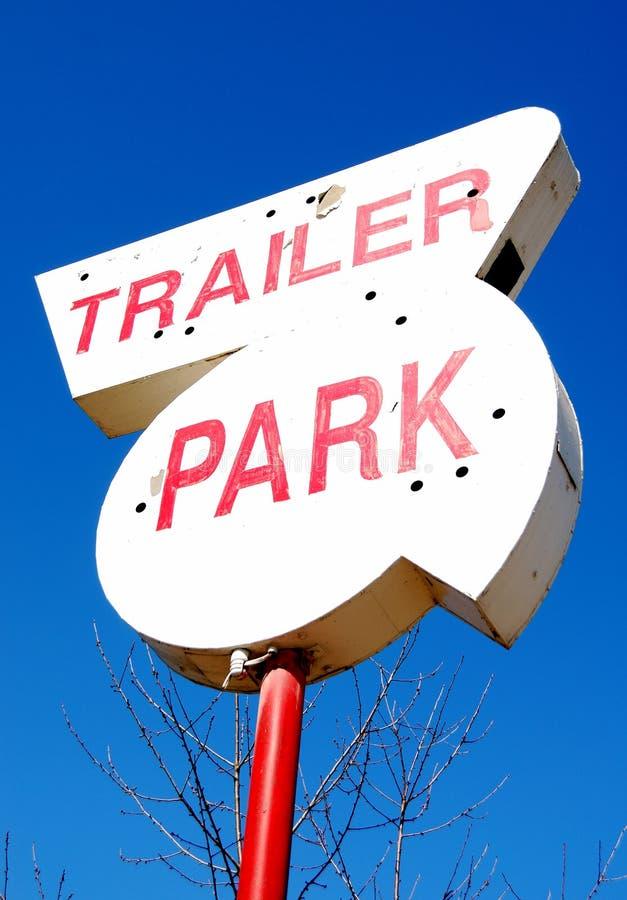 Trailer Park. Old trailer park sign on NE Stephens Street in Roseburg OR royalty free stock photography