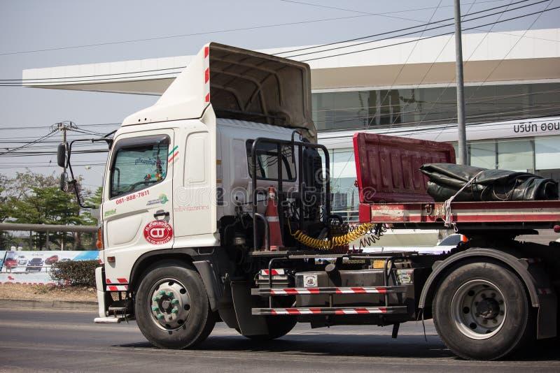 Trailer Truck of CTJ Company stock photography