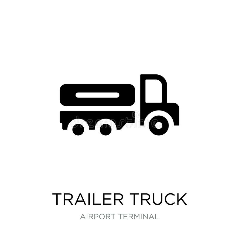 Trailer truck icon in trendy design style. trailer truck icon isolated on white background. trailer truck vector icon simple and. Modern flat symbol for web vector illustration