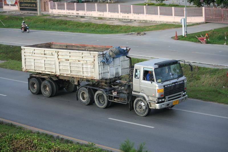 Trailer truck, rock container. stock images