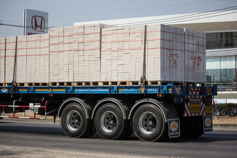Trailer Truck of STP Company royalty free stock photography
