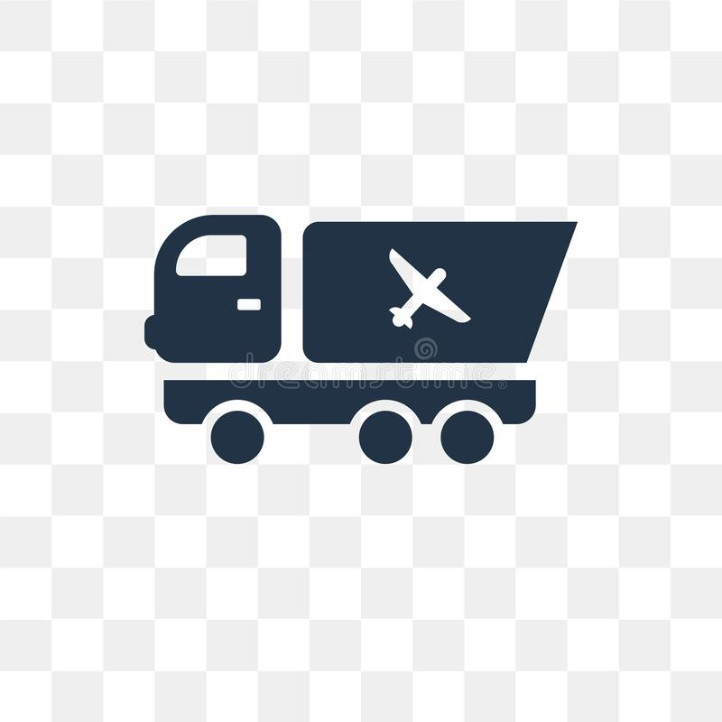 Trailer Truck vector icon isolated on transparent background, Tr. Ailer Truck transparency concept can be used web and mobile, Trailer Truck icon stock illustration