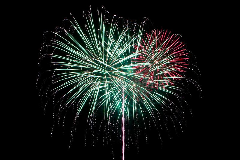 Trailing Firework royalty free stock photography