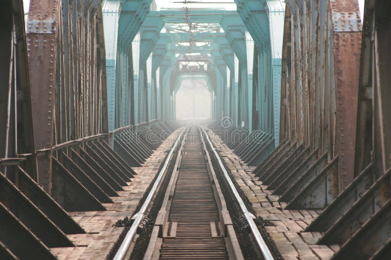 The trailroad bridge royalty free stock images