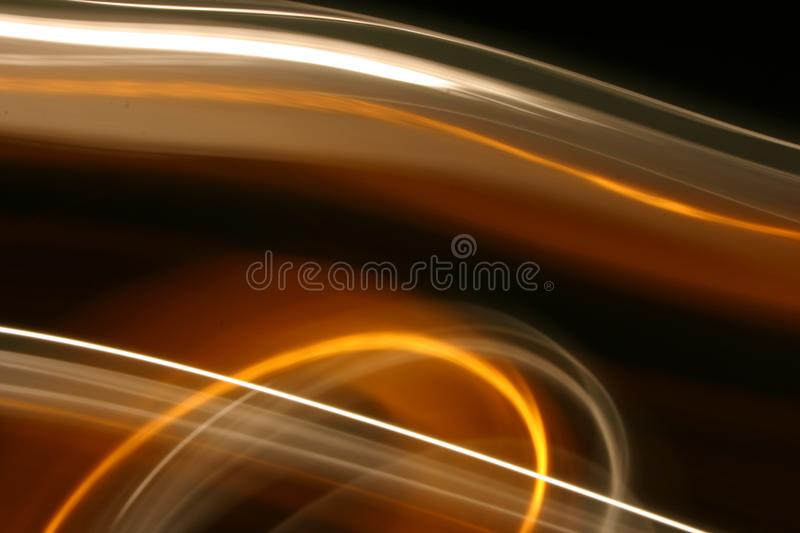 Trails of light in motion stock images