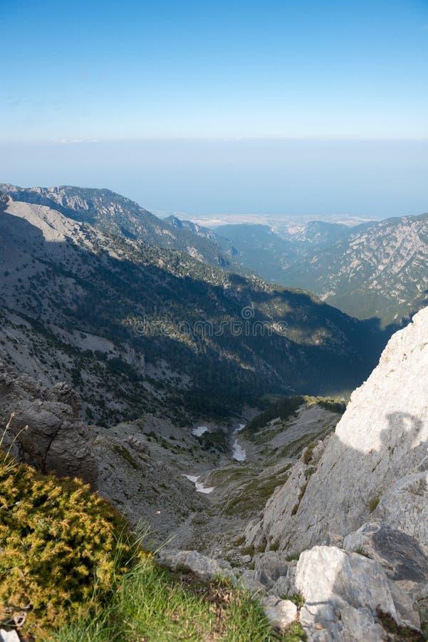 trailway在奥林匹斯山山顶  库存照片